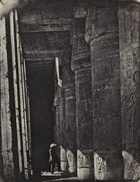 group of 6 photographs of thèbes, egypt, as well as one from nubie (ethiopia) (7 works) by maxime du camp
