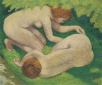 les deux baigneuses by aristide maillol