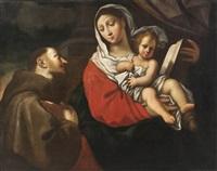 vierge à l'enfant avec saint françois d'assise by carlo maratta