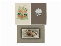 group of 3 prints by georges braque