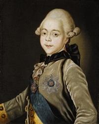 portrait of the tsarevich pavel petrovich by aleksei petrovich antropov