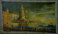 porto di mare con faro a sinistra by virginia forti