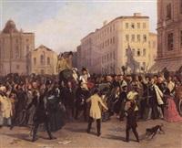 kaiser ferdinands ausfahrt am 15. märz 1848 by johann nepomuk höfel