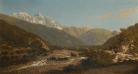 a view of mount karaugom, caucasus by petr petrovich vereshchagin