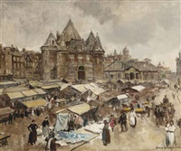 the waag on the nieuwmarkt, amsterdam by frans langeveld