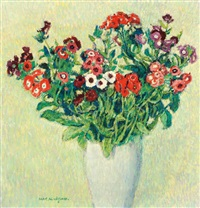 sweet william in a vase by aart glansdorp