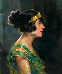 damenporträt by oumbertos argyros