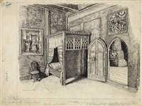 interior of the royal residence, meran, tyrol by otto henry bacher