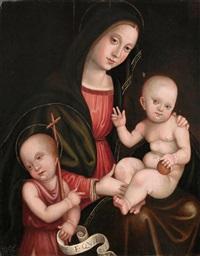 madonna mit kind und dem heiligen johannes by italian school (16)