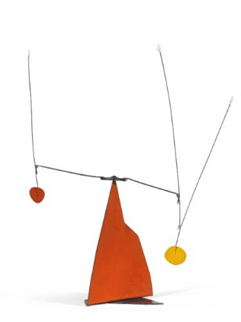 red yellow and white by alexander calder