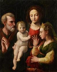 le mariage mystique de sainte catherine by parmigianino