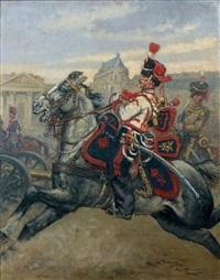trompette des artilleurs de la garde impériale, second empire by pierre-albert leroux
