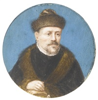 a gentleman in a fur hat by german school (16)