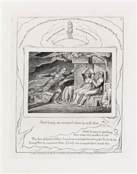 and i only am escaped alone to tell thee (from illustrations of the book of job) by william blake