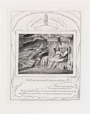 and i only am escaped alone to tell thee from illustrations of the book of job by william blake