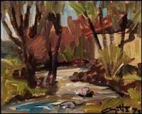 rivière dans ste-pie by léo ayotte