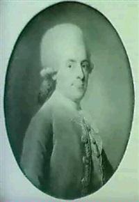 portrait d'homme au gilet marron by simon-bernard lenoir