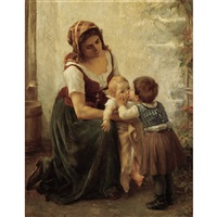 this kiss (mother and children) by timoléon marie lobrichon
