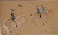 le kayser guillaume ii à cheval by robert heinrich freiherr von doblhoff
