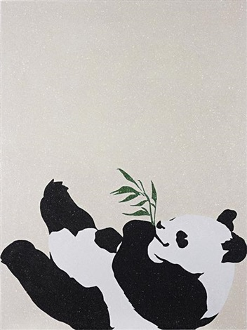power of the panda (happy alone) by rob pruitt