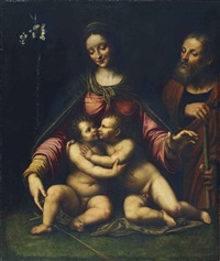 la sainte famille avec saint jean-baptiste by bernardino luini