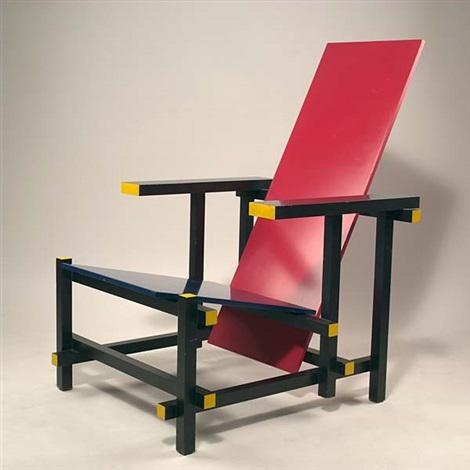 Rietveld Stuhl rot blau stuhl by gerrit rietveld on artnet