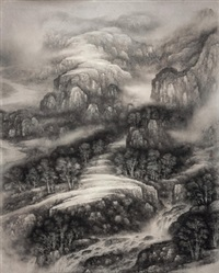 山谷泉声 (valley) by xu changjiang