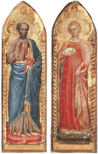 saint peter - ? ( + saint agnes; pair) by spinello aretino