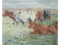 cattle in a field by harry becker