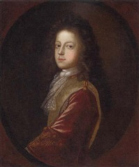 portrait of prince james francis edward stuart, the old pretender, in a jacket and lace cravat by herman verelst