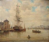 harbor scene by amélie burdin