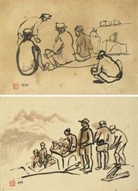 上工 矿工 (2 works) by hong ruiling