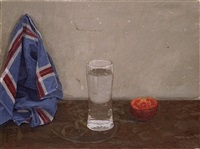 still life and a glass by aram gershuni