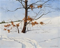 winter landscape by dirk smorenberg