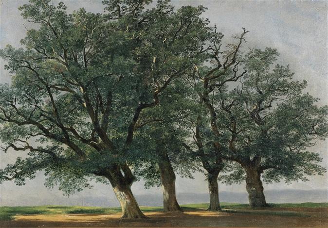 quatre grands arbres by alexandre calame