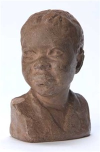 untitled-bust of a young boy by augusta savage