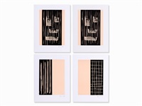 4 color linocuts by günther förg