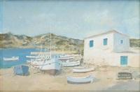 petit port méditerranéen by rené-marie dujardin