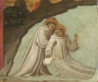 deux saints dans un fleuve by lippo d'andrea (ambrogio di baldese)
