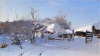winter scene by nikolai nikanorovich dubovskoy