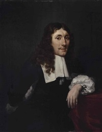portrait of a gentleman, half-length by jacob esselens