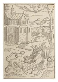 der heilige johannes misst den tempel by matthias (von nördlingen) gerung