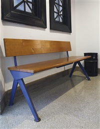 marcoule bench from the cea building, marcoule, france by jean prouvé