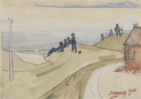 figures in the dunes by jan toorop