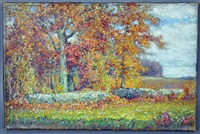an impressionist landscape by albert babb insley