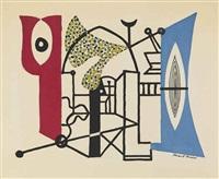 mortar and pestle sign by stuart davis