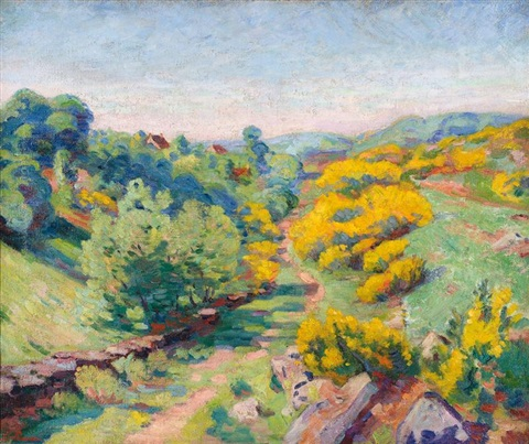 vue de crozant au printemps by armand guillaumin