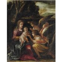 madonna col bambino e angeli by giovanni andrea (il mastelletta) donducci