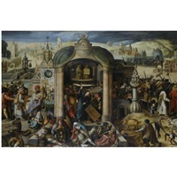 christ expels the money-lenders from the temple by hieronymus bosch