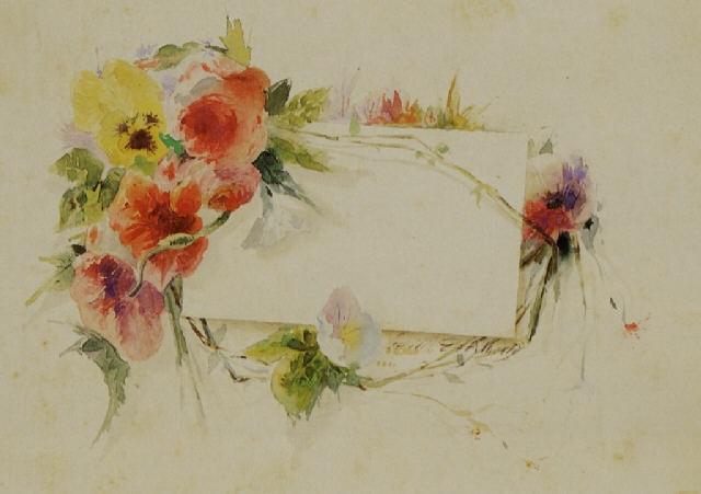 fiori con cartoncino bianco by emilio de albertis